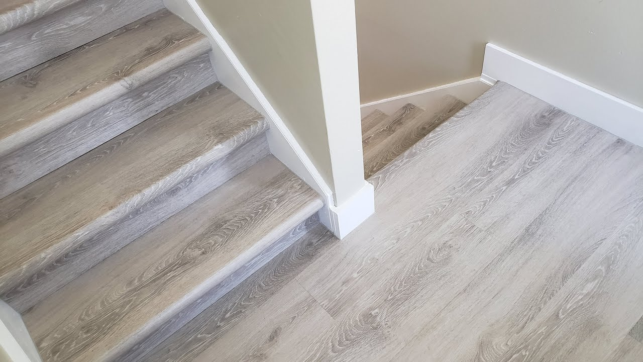 lifeproof vinyl flooring stair tread installation home depot product