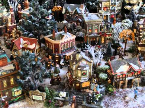 Village miniature de no l dicken 39 s village 2013 nathalie l youtube - Village de noel miniature ...