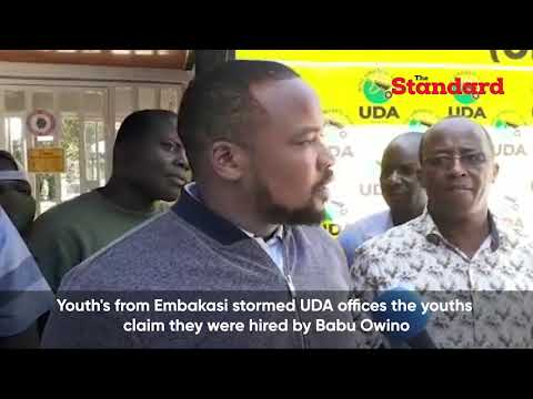 UDA offices raided by youths claiming to have been sent by Babu Owino