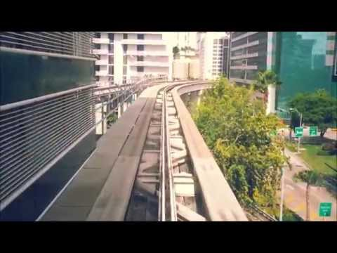Amazing Metromover Ride Time Lapse - Miami Dade County
