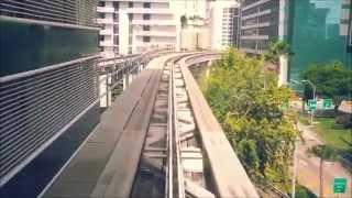 Metromover Ride - Miami Dade County