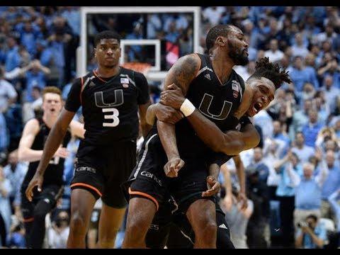 Miami vs North Carolina || Full Game Highlights || 2017 2018 College Basketball Season