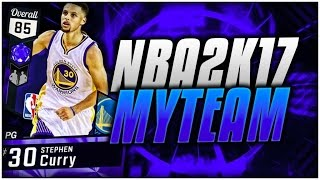 SAPPHIRE STEPH CURRY! BEST CARD IN THE GAME! NBA 2K17 MyTEAM GAMEPLAY