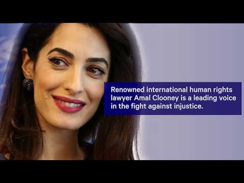 Amal Clooney in Conversation with Nick Clooney