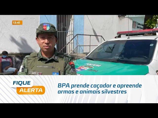 BPA prende caçador e apreende armas e animais silvestres