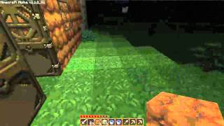 Lets play Minecraft episode 7 - Buckets, Making waterfall, never ending water supply