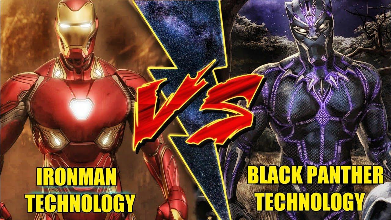 Ironman Technology vs Black panther Technology in Hindi (SUPERBATTLE)