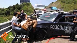 Tráiler arrolla a elementos que abanderaban homicidio en Atizapán