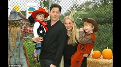 actor Brendan Fraser with ex-wife Actress Afton Smith and kids