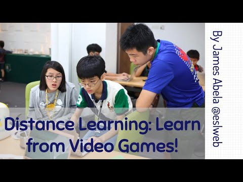 Distance Learning: Learn from Video Games!