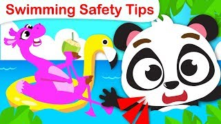 Safety Tips | Learn to Swim with Alice the Camel and Baby Panda | Nursery Rhymes by Little Angel