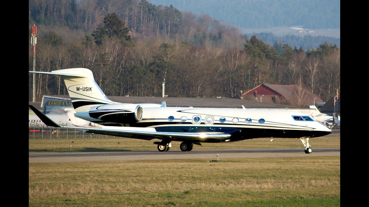 Gulfstream G650 MUSIK  Landing in Bern HD  YouTube