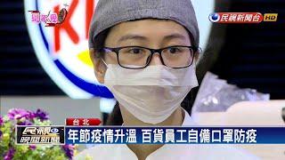 年節防疫!百貨人潮湧、員工戴口罩備戰-民視新聞