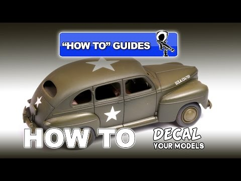 HOW TO GUIDE: APPLY DECALS TO YOUR MODELS - Modelling