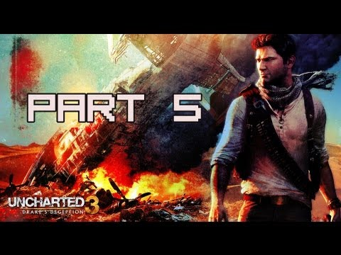 Uncharted 3: Drake's Deception Walkthrough - Part 5 London Underground Let's Play PS3