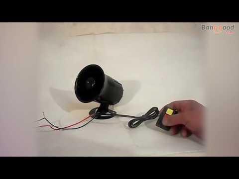 30W 3 Sounds Motorcycle Auto Car Alarm Horn Alarm Siren