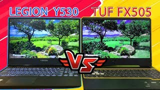 PERANG LAPTOP GAMING ! ASUS TUF FX505 VS LENOVO LEGION Y530 | PLUS GIVEAWAY