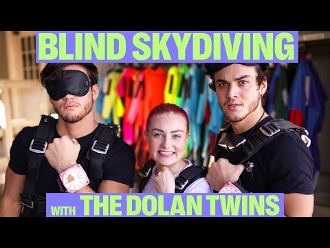 BLINDFOLDED SKYDIVING W/ THE DOLAN TWINS!