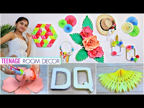 6 DIY Teenager ROOM DECOR Ideas.. | #WallDecor #WallArt #Anaysa #DIYQueen