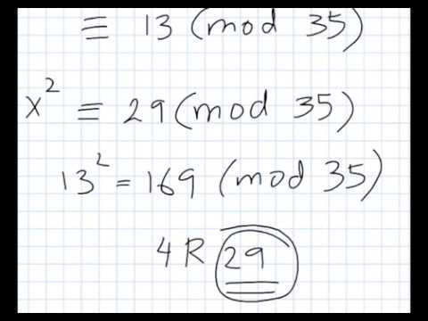 The Chinese Remainder Theorem An Example Youtube
