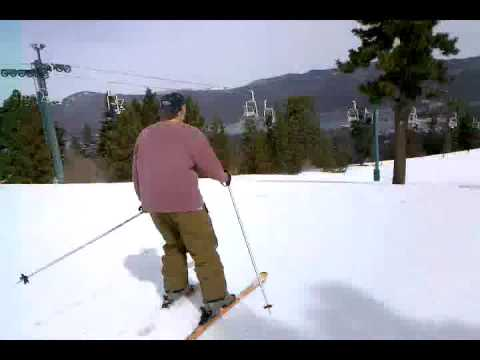 Tod Hoover Skiing the Summit
