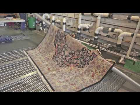 Oriental rug cleaned from dog urine after 15 years in storage-#orientalrug