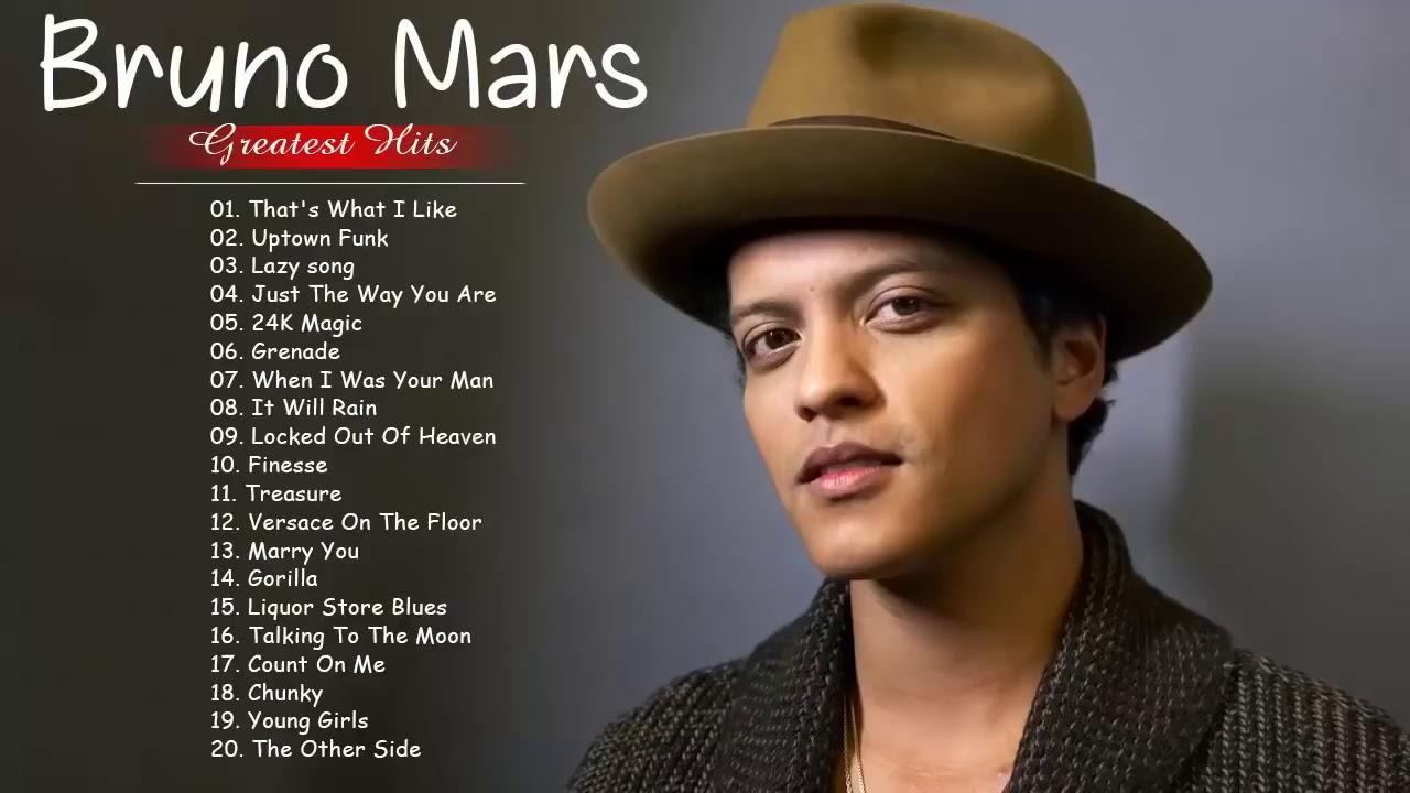 Download Bruno Mars Greatest Hit 2020 - The Best Songs Of Bruno Mars
