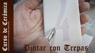Curso de Cerámica - Pintar con Plantillas - Trepas