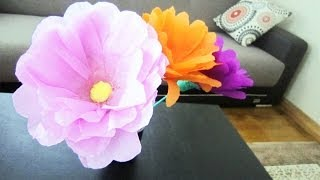 Repeat youtube video How to make giant flowers using plastic bottles  - Recycling - EP - simplekidscrafts