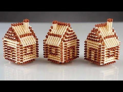Дом из спичек своими руками пошаговая инструкция