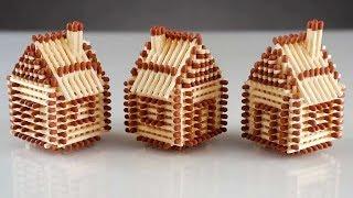 как сделать домик со спичек