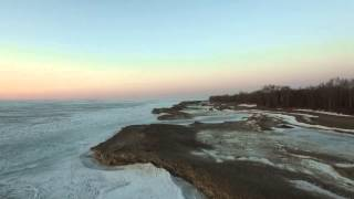 Presque Isle State Park with DJI Inspire 1 at Sunset
