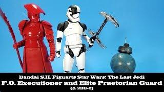 S.H. Figuarts Elite Praetorian Guard, First Order Executioner, and 2BB-2 Star Wars The Last Jedi