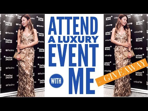 ATTEND A LUXURY EVENT WITH ME! | MONTBLANC & UNICEF + SURPRISE GIVEAWAY 2017 OPEN!!!