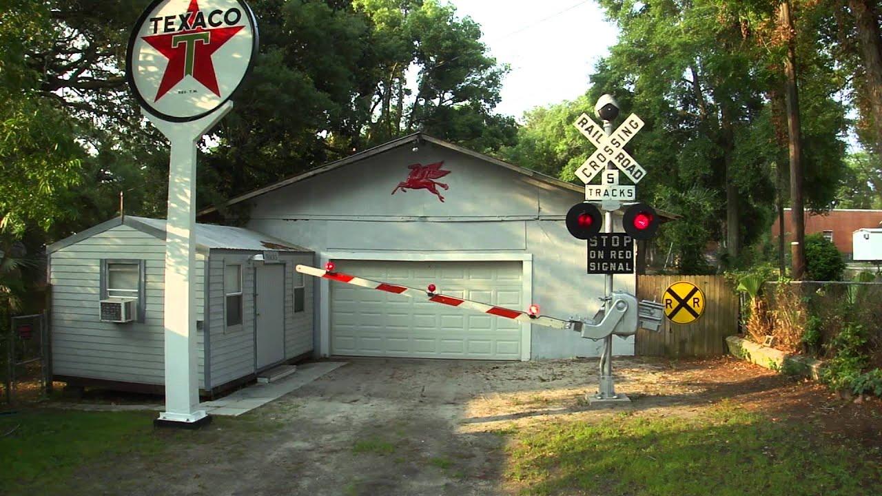 railroad crossing gate youtube