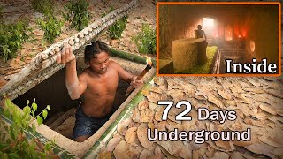 72 Days In Jungle \u0026 Building Hidden House - Full Video