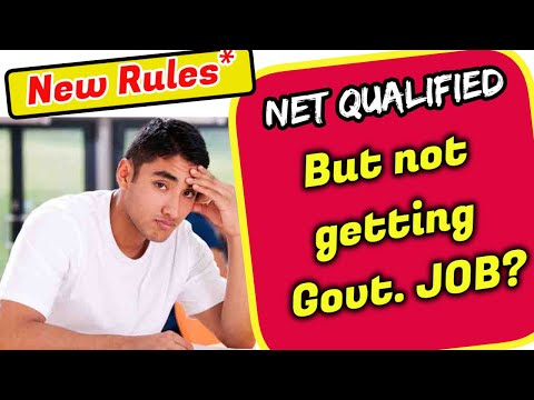 Qualified NET But Not Getting GOVT.JOB? || Latest Rules Of UGC 2020 || NET Ph.D Candidates API Score
