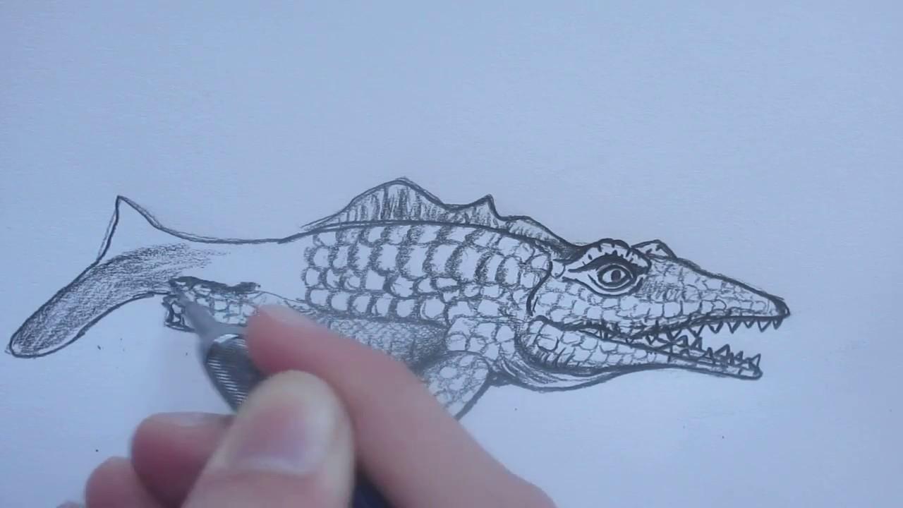 Drawing Mosasaurus    Hungry Shark Evolution   Danny the Dinosaur Drawer