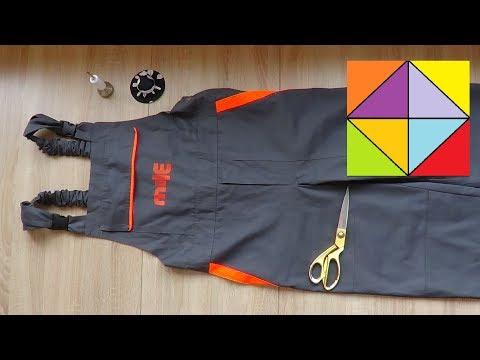 Как сделать из комбинезона брюки