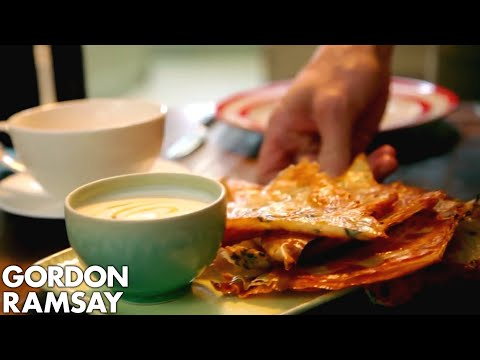 Crispy Filo with Honey Yogurt | Gordon Ramsay