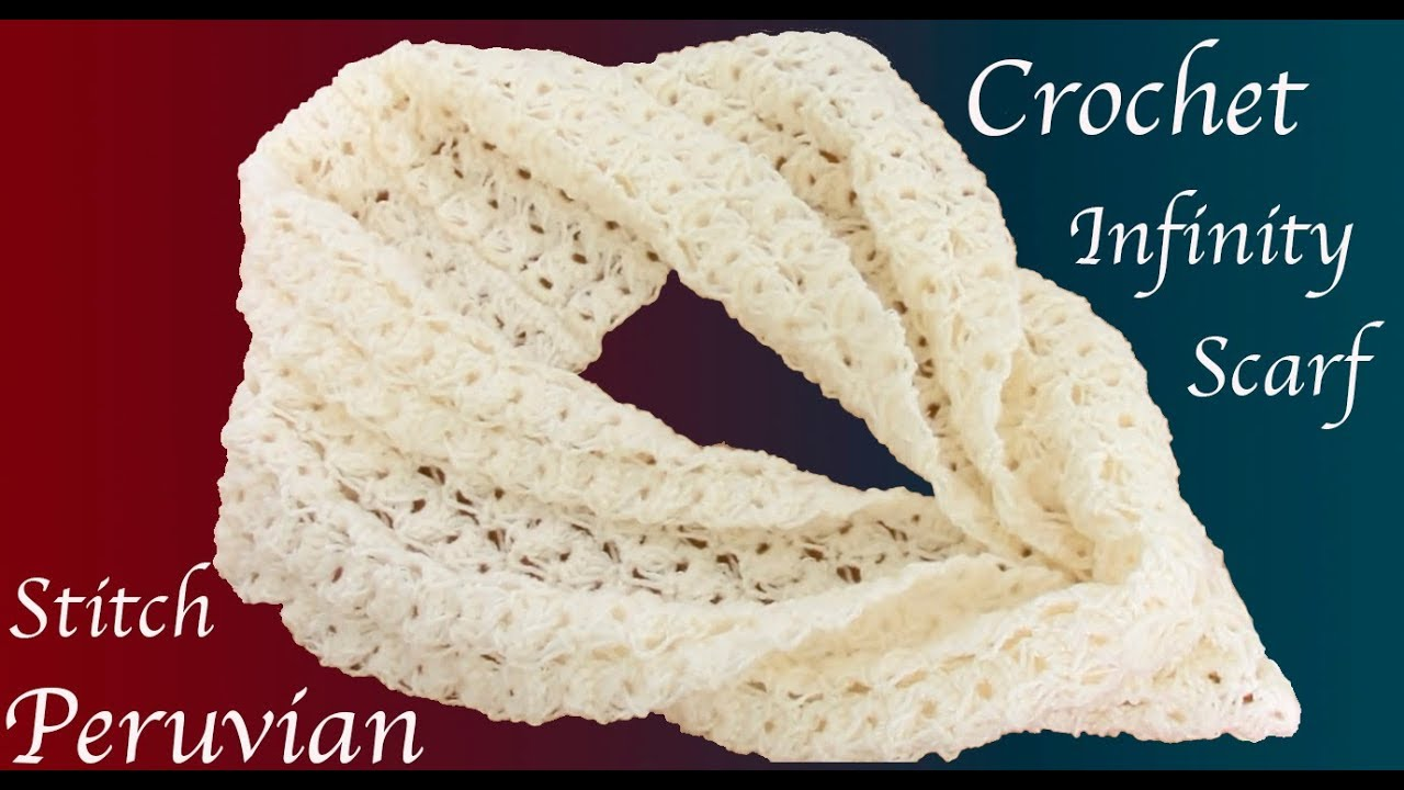 Bufanda a Crochet Punto Peruano tejido tallermanualperu - YouTube