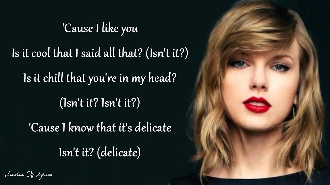 Taylor Swift Delicate Lyrics Youtube