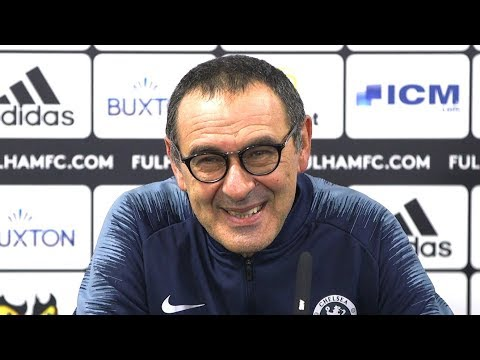 Fulham 1-2 Chelsea - Maurizio Sarri Full Post Match Press Co