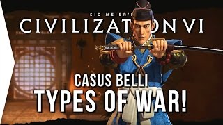 Civilization VI ► Types of WAR in Civ 6! (Casus Belli)