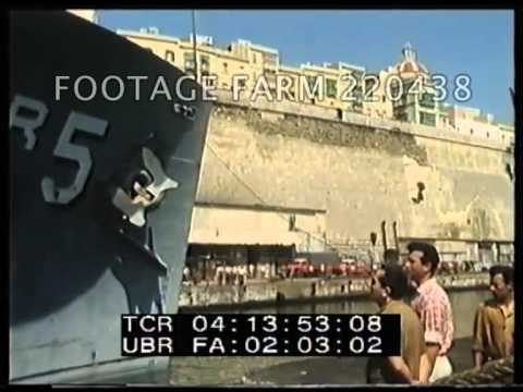 Cold War, USA Navy: USS Liberty Into Malta Drydock After Attack By Israel 220438-02 | Footage Farm