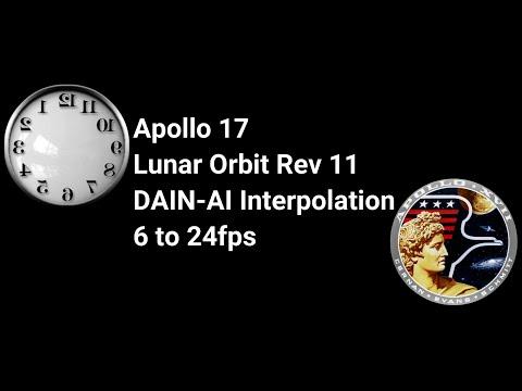 Apollo 17 Lunar Orbit Interpolation