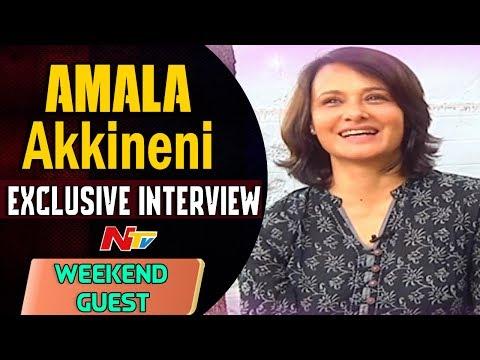 Actress Amala Akkineni Exclusive Interview    Weekend Guest    NTV