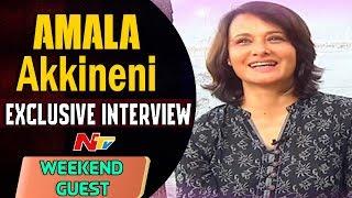 Actress Amala Akkineni Exclusive Interview || Weekend Guest || NTV
