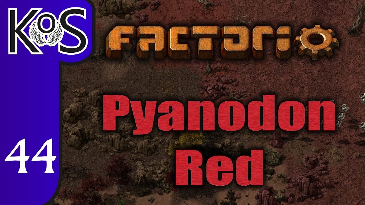 Factorio Pyanodon Red Ep 44: THE WATER CHASE - 0 16 - Gameplay, Let's Play