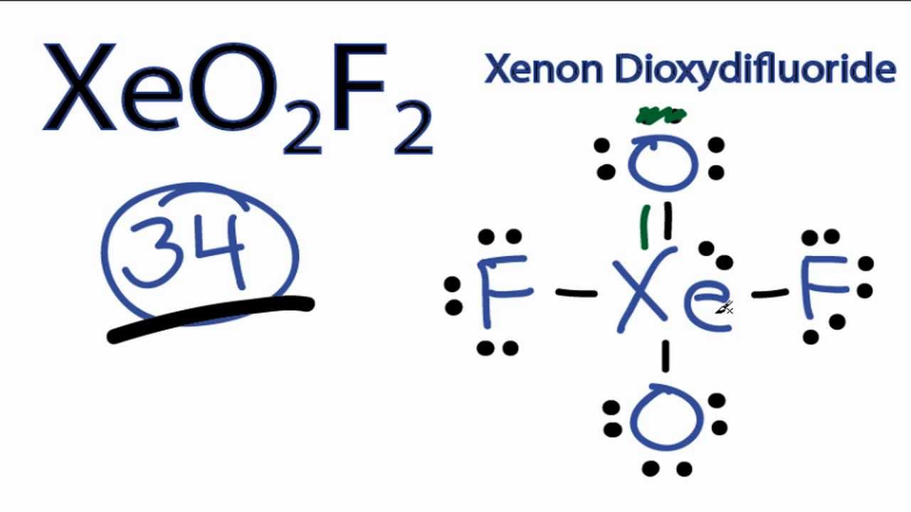 Molecular geometry of XeO2F2  answerscom